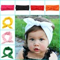 New Baby  Headband White knot tie headband headwrap Vintage Head Wrap Photo Prop stretchy Knot Girls Hair Accessories