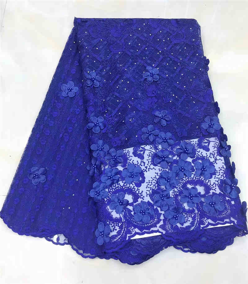 Arts,crafts & Sewing Latest Novelty French Lace With Stones 3d Applique 5 Yards/lot 2019 Design African Lace Fabric For Wedding Dress Nx592z