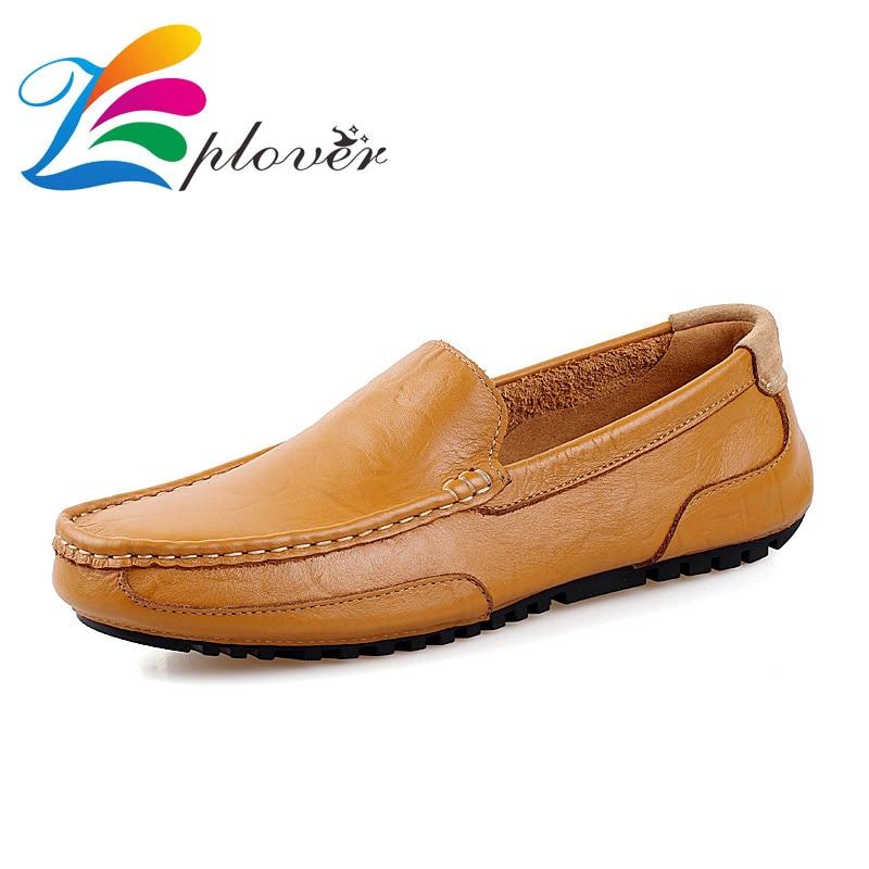 684d482bc Zplover حذاء رجالي عارضة 2016 جديد أزياء والجلود أحذية قيادة الربيع الخريف  حذاء مسطح للرجال حذاء بدون كعب الشتاء أحذية