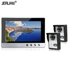 JERUAN 10 inch TFT Door Phone Video Doorbell System with IR Kit camera Wired Video 700TVL 2V1 Home Apartment Entry Kit