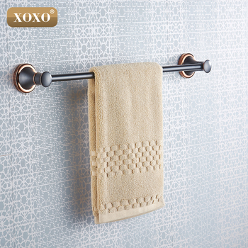 XOXONew copper Bathroom Single Towel Bar Dual purpose punch and paste Wall Mounted Towel Rack Towel Rod  21024