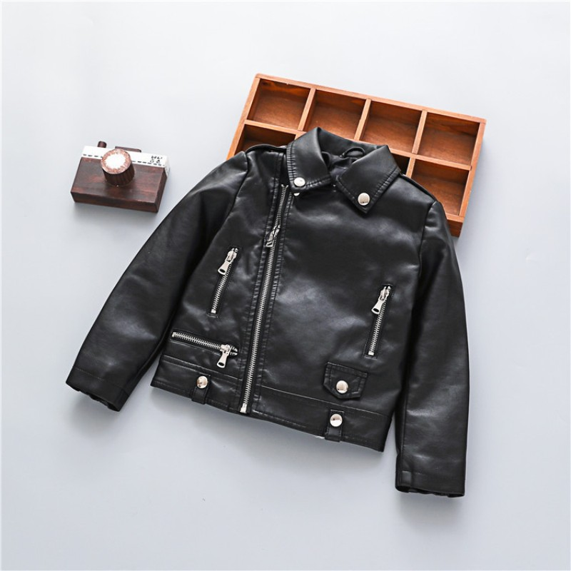 Spring Autumn Kids Jacket PU Leather Girls boys Jackets Clothes Children Outwear For Baby Girls Boys Clothing Coats Costume PU04 2 14t baby boy clothes boys jacket leather spring letter boys outwear for children kids coats for boys baseball sweatershirt