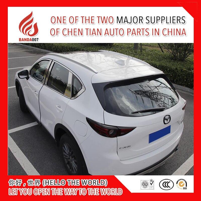 Qualité supérieure alliage d'aluminium vis installer rail latéral bar barres de toit pour Mazda mazda CX-5 cx5 2017 2018 17 18 champion des ventes
