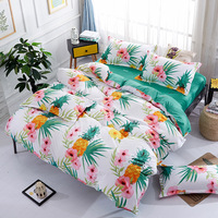 Wewish New fashion Banana Trees cartoon 4pcs bedding sets bed sheet duvet cover pillowcase soft comfortable king Queen Full size