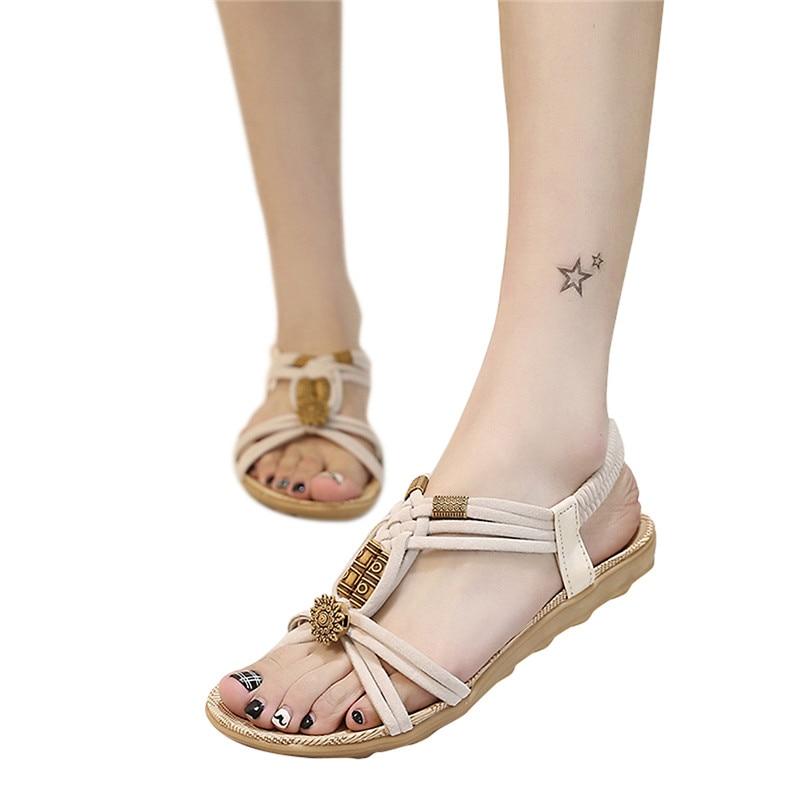 Frauen Sandalen Sommer Flip-Flops frauen Strand Sandalen Frauen Schuhe Bands Flache Schuhe Gladiator Alias Mujer Fahren Schuhe