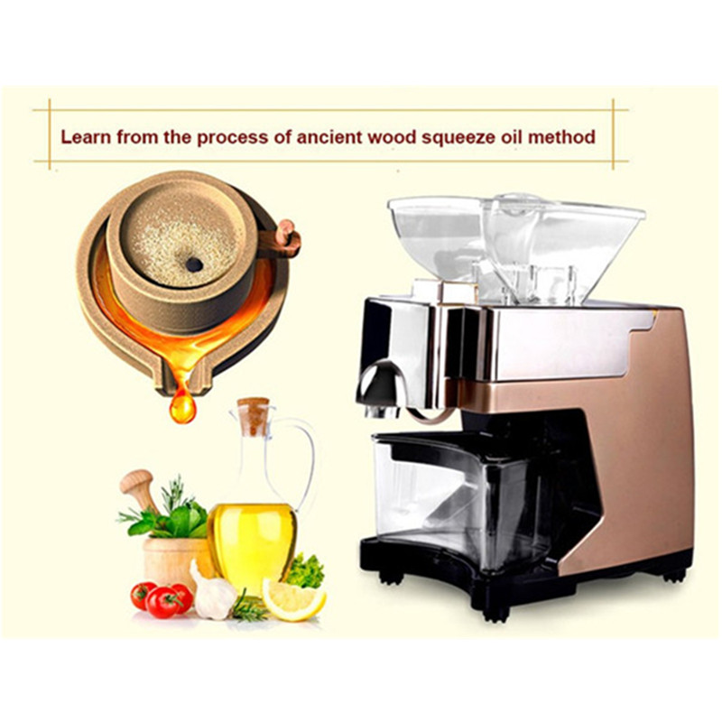 Hydraulic screw oil mill home use small expeller automatic peanut oil press fry oil machine