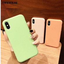 YWEWBJH For iPhone 7 Case  Liquid silicone protective Cover for X XR 6 6S 8 Plus S PLUS XS MAX