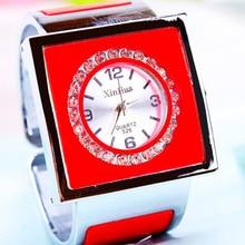 Женское платье часы модные повседневные браслет из нержавеющей стали квадратные часы леди ролл Стразы кварцевые наручные часы Relogio Feminino
