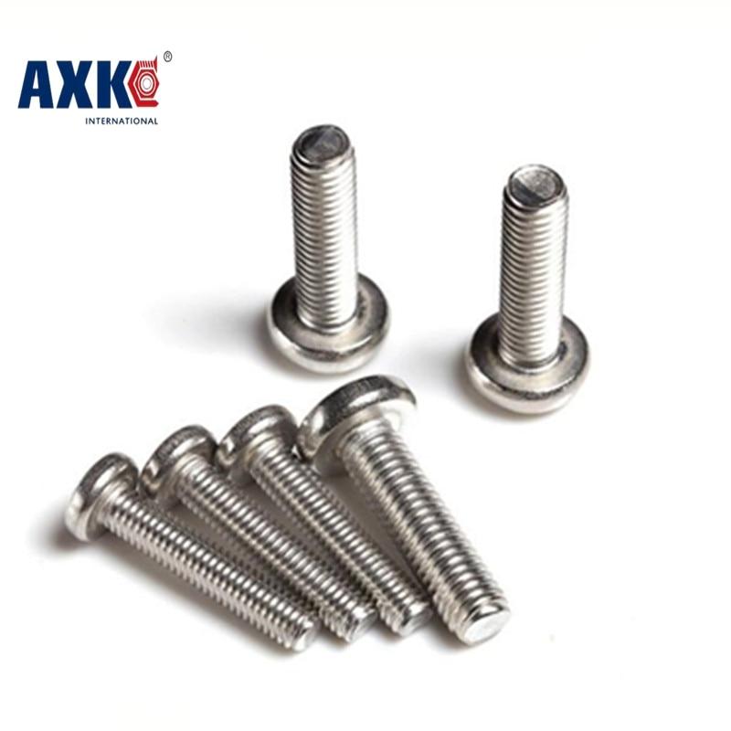 Axk Gb818 M4 Stainless Steel Phillips Cross Recessed Pan Head Screw M4*4/5/6/8/10/12/14/16/18/20/25/30/35/40/45/50/55/60/65/70 винт hexagon socket screw 10 16 20 25 30 35 40 45 50 55 60 65 120