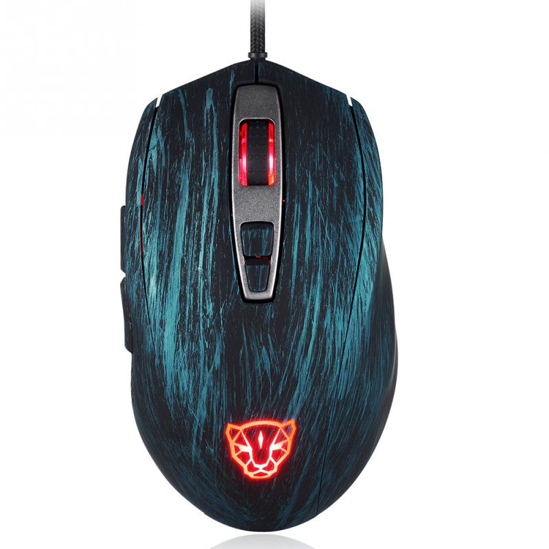 New Original Motospeed V60 5000 DPI Wired Gaming Mouse 7 Keys Rato com fio Computer Peripherals for Gamers 4 Colors for Choice