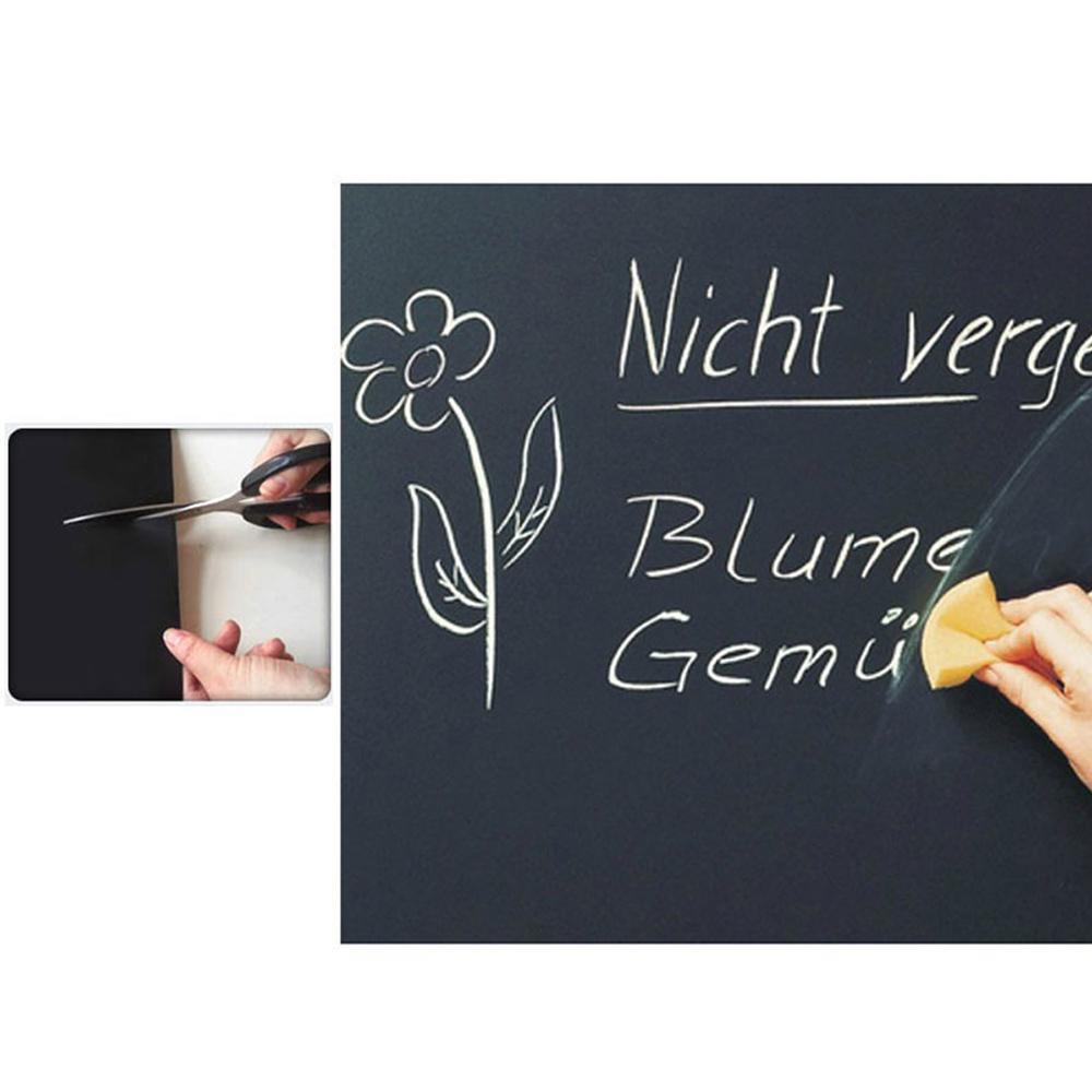 2-pieceslot-Wall-Stickers-Blackboard-Paint-learning-children-drawing-toy-Vinyl-Chalkboard-3040CM-2