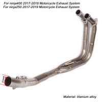 for ninja400 250 2017 2018 2019 Motorcycle Full Connecting Pipe titanium alloy link Exhaust System
