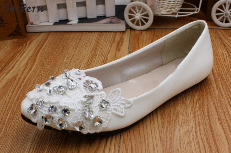 3cm Sorbern 8cm Sur flat Heel 2018 Pieds De Appliques 5cm Heel Mariage Perlée Blanc Talon Chaussures Plats Heel Talons Dentelle Nu Slip Femme Heel aFUrqaw