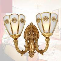 Классическая Медь зеркало бра Arandela Европейский Стиль настенный светильник современный отель настенный светильник зале все Медь Tv стены пр