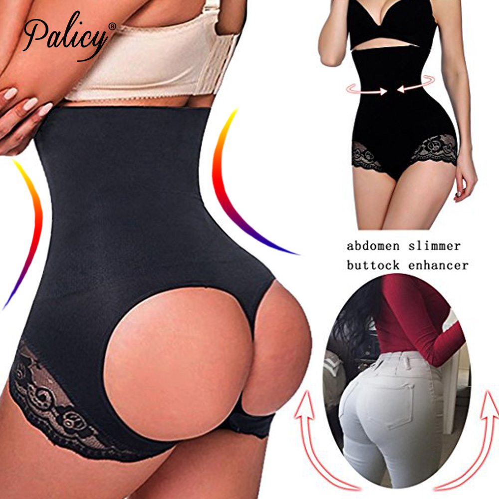 Palicy Women's M-4XL Sexy Circle Open Butt Lifter Panty Shaper Seamless Invisible Tummy Control Bumbum Pant Booty Lift Underwear