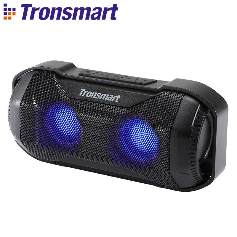 Tronsmart Blaze Altavoz Bluetooth 10 W IPX56 impermeable altavoz portátil con bajo Superior y luces LED para bicicleta deportes