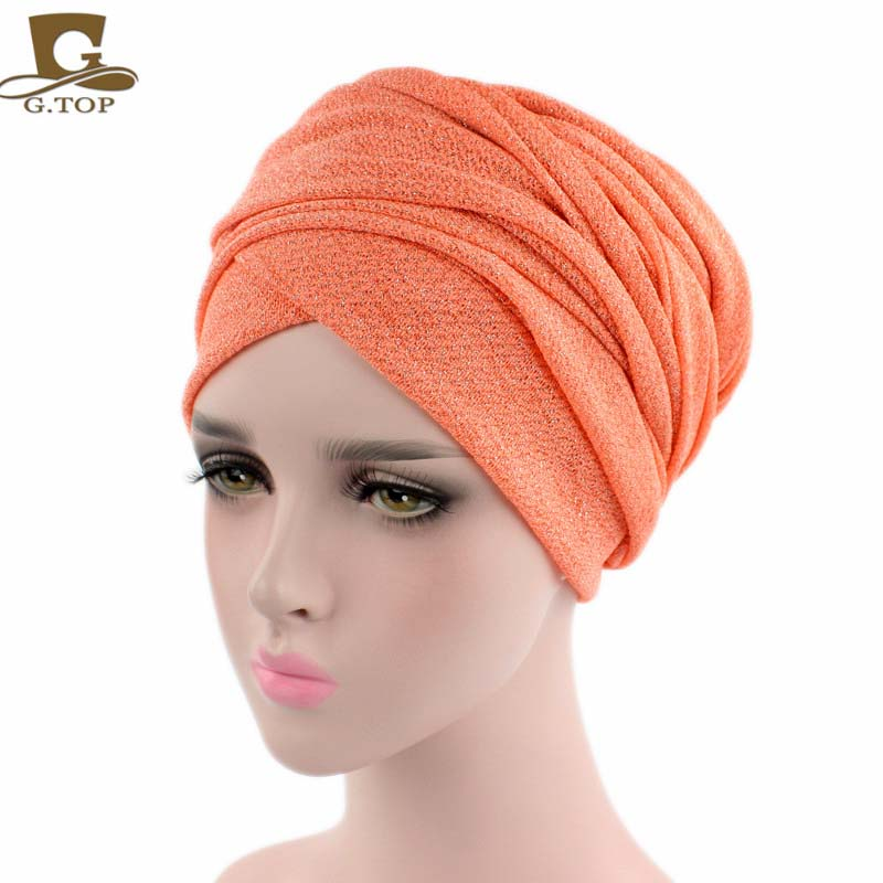 2017 new spring style turban breathable mesh shimmer long scarf head wrap women hijab tube head scarf tie headpiece