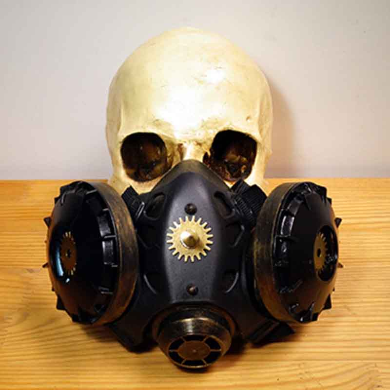 Reasonable Black Retro Rock Anti-fog Haze Gas Respirator Mask Carnival Party Cosplay Gothic Steampunk Props Halloween Costume Accessories Back To Search Resultsnovelty & Special Use