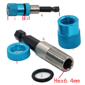 1/4 Hex Shank Electric Drill Bit Magnetic Screwdriver Bit Holder Stainless Steel Magnetism drywall screw bit holder Screw Tool(China)