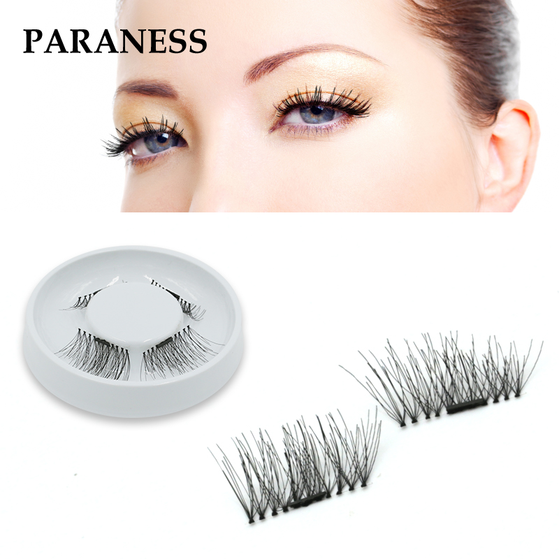Magnetic Eyelash Extension 3D Eyelashes on the magnet False Eyelash Handmade Fake Eye Lashes Thicker Cross Reusable makeup tools