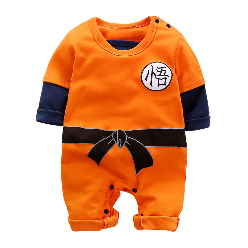 KungFu Infant Baby Boys Girls Goku   Romper   Kids Autumn/Spring Long Sleeve Cotton Jumpsuit Cartoon PlaySuit One Piece Outfit 0-2Y
