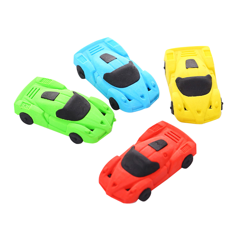 1PC Children School Supply Cute Car Shape Erasers Best Gift for Children Correction Stationary Item Store Joy Corner in Eraser from Office School Supplies