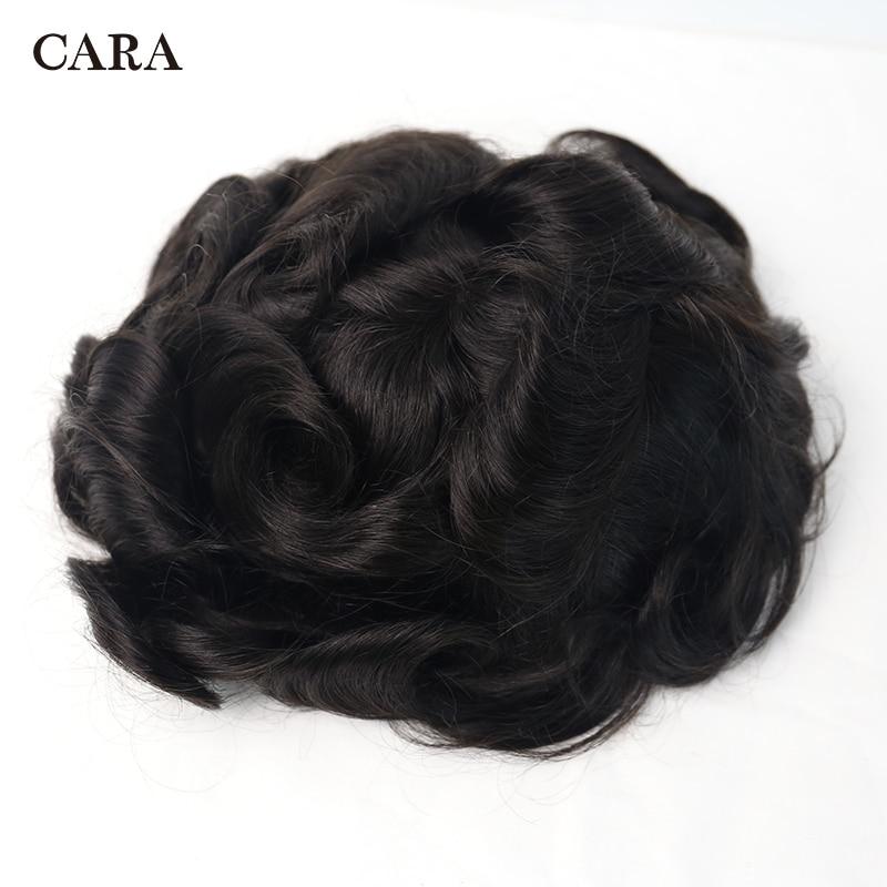 Men Hair Toupee Thin Skin Mono System And Swiss Lace & PU Toupee Men 10x8 Inch Size 100% Brazilian Human Hair 1b Color
