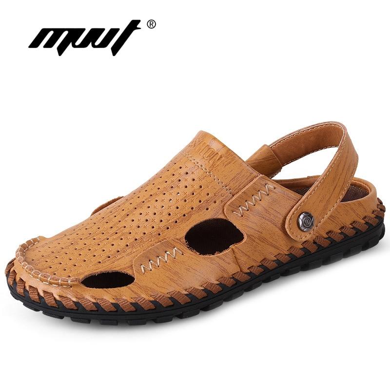 2018 Summer Sandals Men Shoes Fashion leather sandals shoes men slippers Breathable leather Casual shoes sandale homme