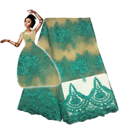2017 High Quality Nigerian French Lace African Lace Fabric For Party Dress 5yards Lot FFc1702 Pfa