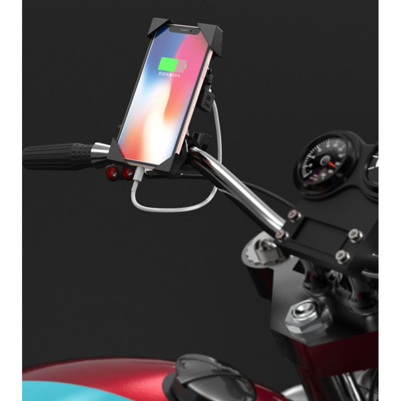Portable Motorcycle Phone Holder With USB Mobile Phone Charger Car Holder Mountain Bike