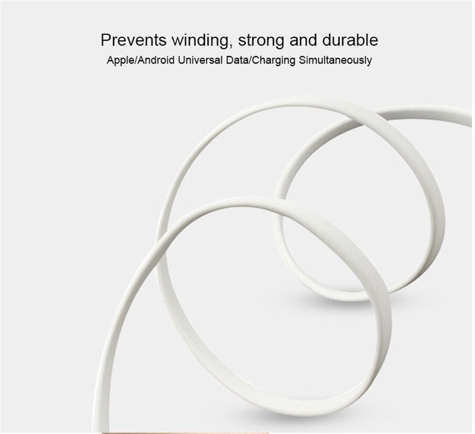 NOHON 3 in 1 USB Cable Type C Lighting Charge Cable For iPhone X 7 8 Plus IOS For Xiaomi Huawei Samsung Fast Charging Cables 1M (7)