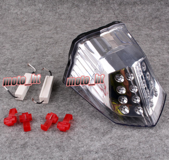 ФОТО Integrated LED Tail Light Turn Signals For Yamaha XJ6 2009-2012 Clear 09 10 11 12