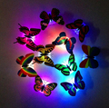 300PCS Free EMS New Style Novely Color  Toy  Flashing ABS LED Butterfly