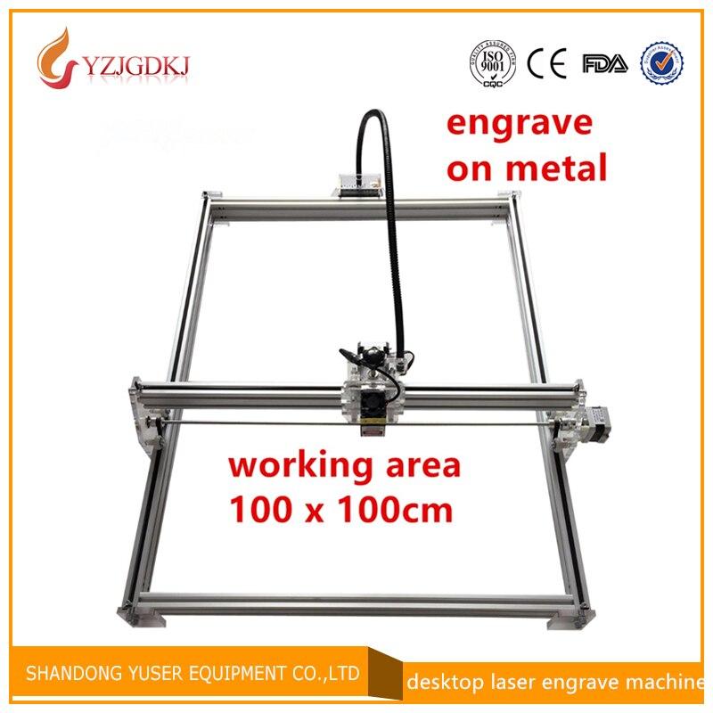 15000 mw Mini DIY desktop Laser Etcher gravura gravador máquina de corte A Laser CNC imagem de impressão de 100*100 cm grande área de trabalho 15 w