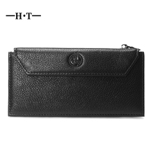 HT Multifunctional Card Wallets Genuine Leather ID Credit Card Holders Long Design Large Capacity 20 Bit Slots Business Cover