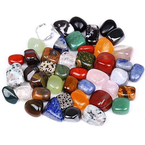 100g Tumbled Stone Beads And Bulk Assorted Mixed Gemstone Rock  Minerals Crystal Stone For Chakra Healing Crystals And Gemstones