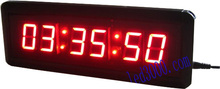 1.5inch red color hours,minutes and seconds  countdown clock free shipping(HIT6-1.5R)