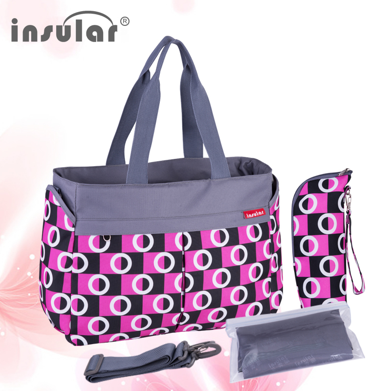 Maternity Bag High Capacity Plaid Style Mummy Mother Mom Diaper Bag Baby Nappy Care Bags