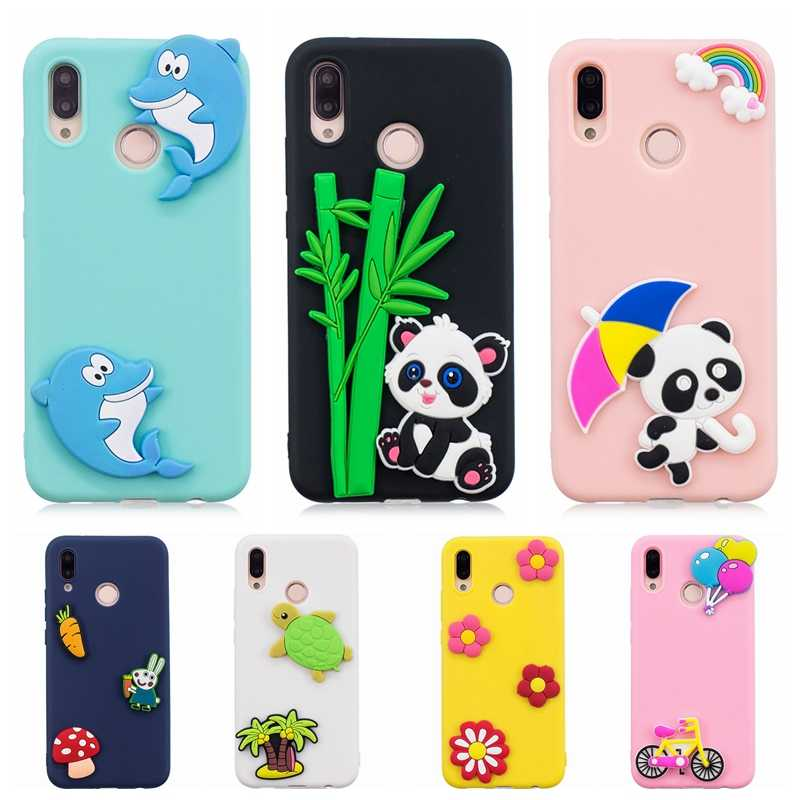 ce089a2d42e Huawei P20 Lite Case Cover Cute Panda Dog flower DIY Silicon Phone Case on  for Fundas