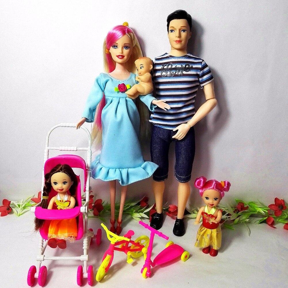 Igračke Obitelj 5 Ljudi Lutke Odijela 1 Mama / 1 Tata / 2 Mala Kelly - Lutke i pribor - Foto 6