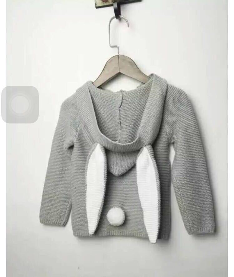5777c614f INS winter Baby sweater knitting coat boys and girls rabbit ears ...