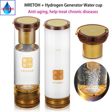 Hydrogen and oxygen separation MRETOH+ Hydrogen Rich Generator Water Ionizer Seperate Use bottle cup H2 water generator
