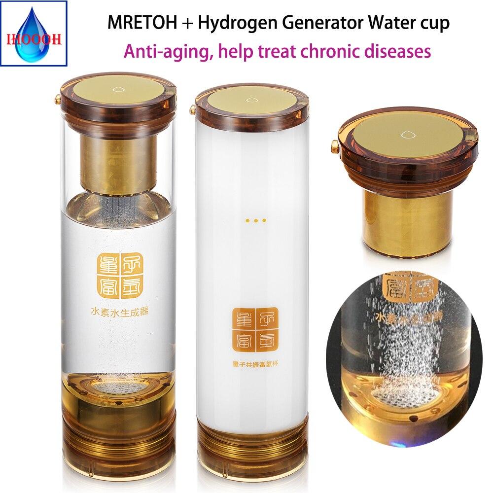 Wodór i tlen separacji MRETOH + bogate jonizator wody Generator wodoru oddzielne skorzystaj z butelka kubek H2 Generator wody