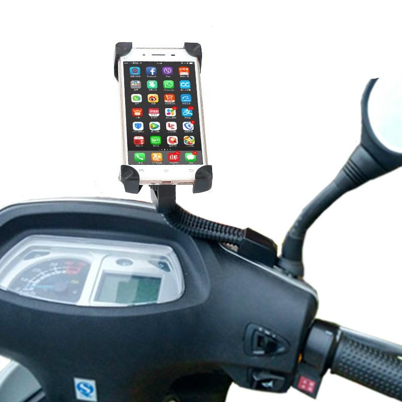Universal Motorcykel Hållare Bakifrån Spegel Telefon Hållare - Reservdelar och tillbehör för mobiltelefoner - Foto 6