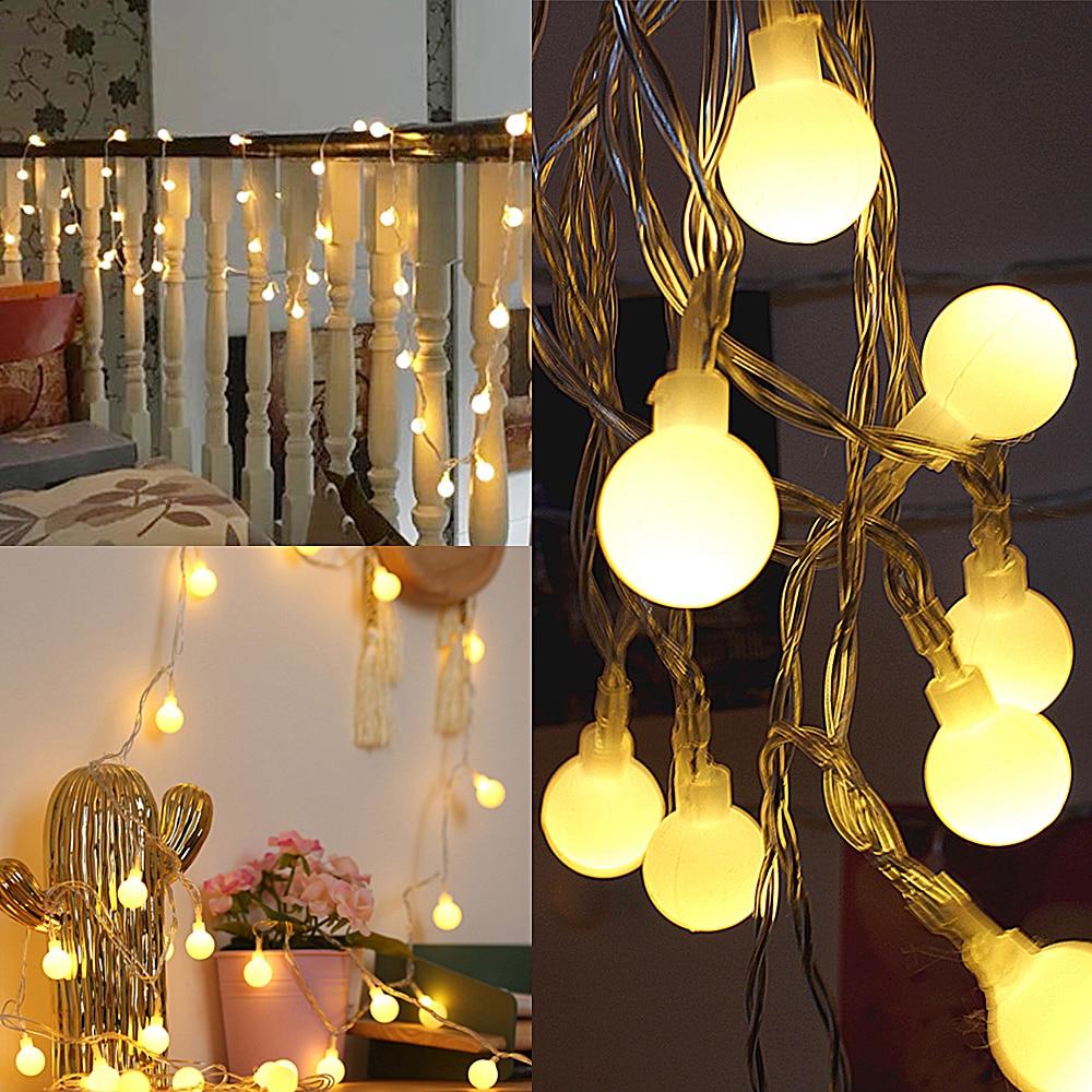 Christmas Tree Indoor Lights: 1.5M Street Garland Battery Led Fairy Christmas Tree