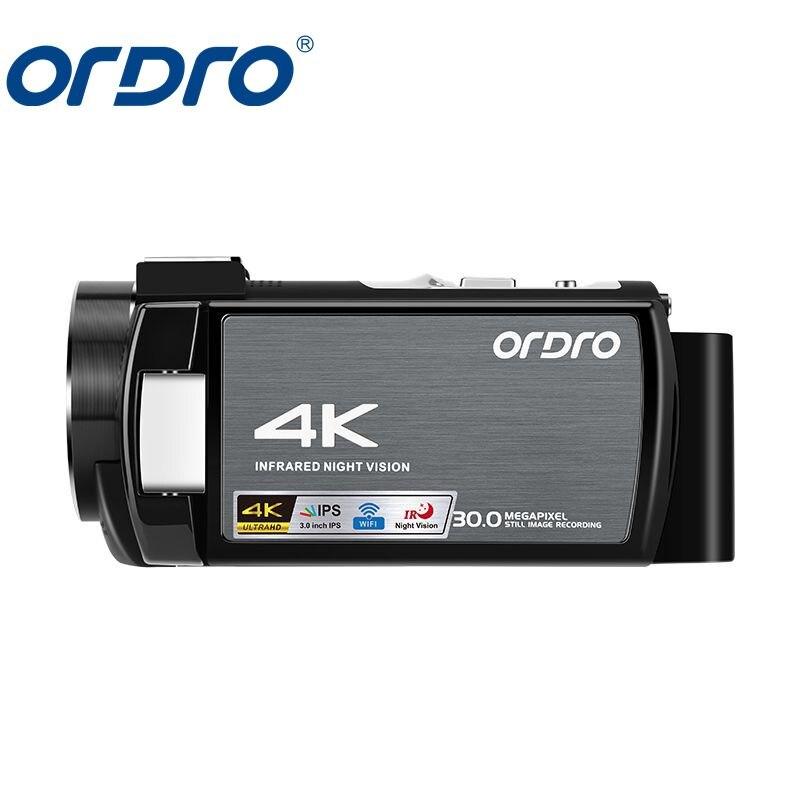 AE8 4K caméscope Sport de plein air Mini caméra vidéo numérique mise à niveau 3.0 IPS Full HD écran tactile IR caméra de Vision nocturne infrarouge
