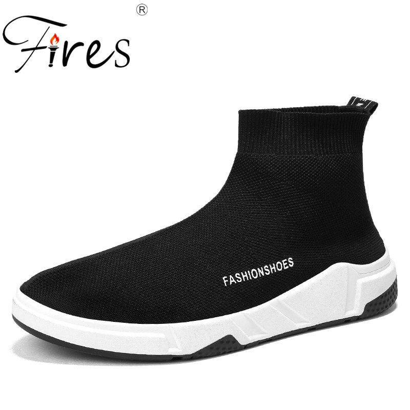 Fires Men Run Sneakers Mesh Breathable Sport shoes Lightweight Summer Walking Shoes Male Soft Black Solid Color Man Sneaker