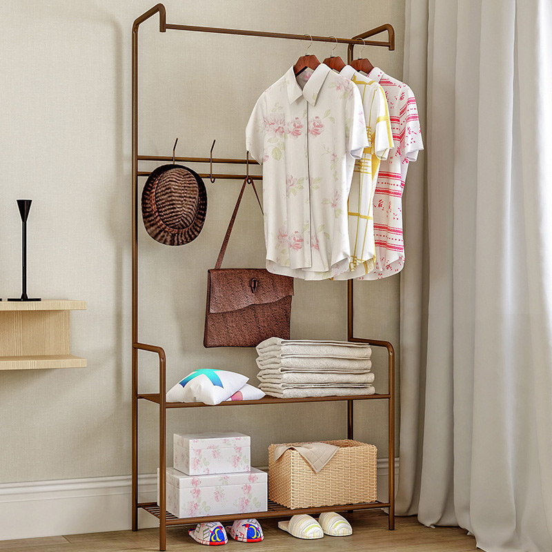 GIANTEX Clothes Hanger Coat Rack Floor Hanger Storage Wardrobe Clothing Drying Racks porte manteau kledingrek perchero
