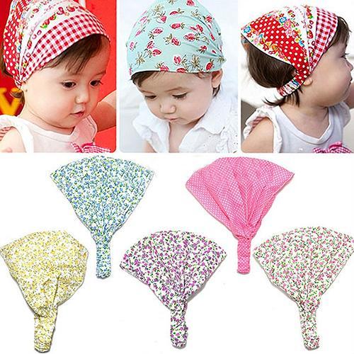 2020 Симпатичные Детские чалма для девочек витые детские головные уборы в горошек с цветочным принтом женская бандана