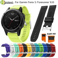 watch bands Easy fit 22mm bracelet strap for Garmin Fenix 5 Forerunner 935 quick release sport soft silicone Watch wrist Strap
